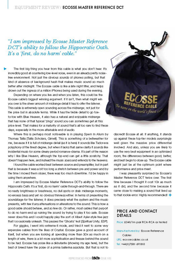 Latest News & Reviews of Ecosse Cables